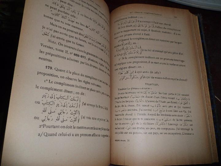 Libros antiguos: COURS DE LANGUE ARABE. CORRIGÉ DES EXERCICES. P. BELOT TEXTO FRANCÉS - ÁRABE. AÑO 1922. RARO - Foto 11 - 44057339