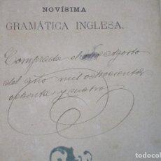 Libros antiguos: GRAMÁTICA INGLESA. BERGNES. 1882. CON NOTA DE FECHA DE ADQUISICIÓN DE 08.08.1884.. Lote 102819531
