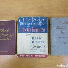 Libros antiguos: LOTE 3 LIBROS LENGUA FRANCESA. 1940-41. MASSÉ / PERRIER / MIRMAN.. Lote 102820751