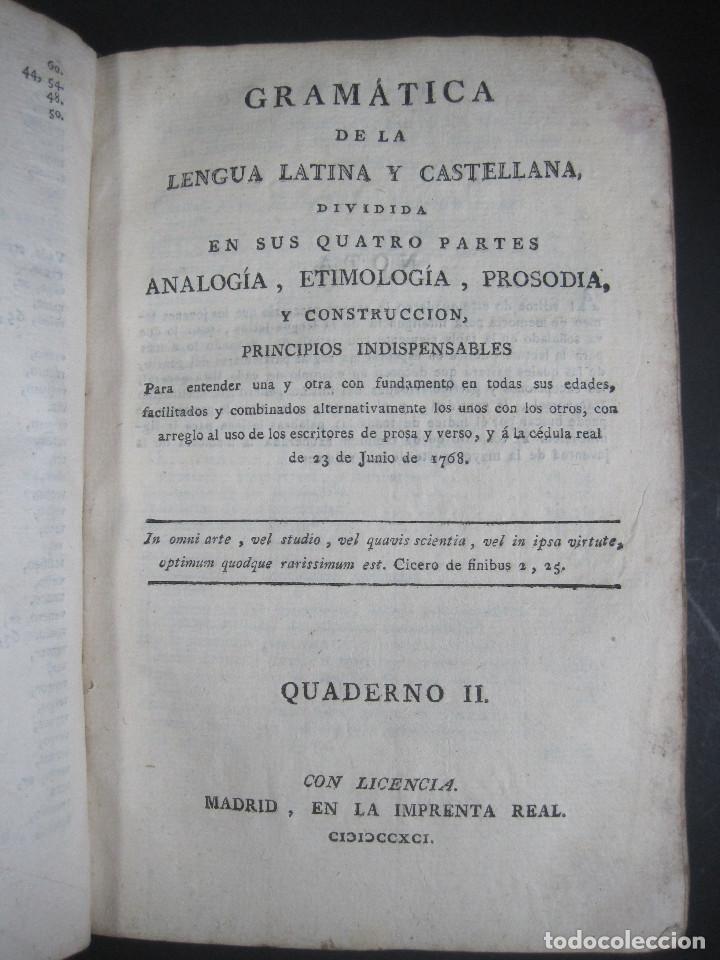 Libros antiguos: Año 1791 Raro Método completo para aprender latín 3 libros en 1 volúmen Castellano Pergamino - Foto 10 - 106908759