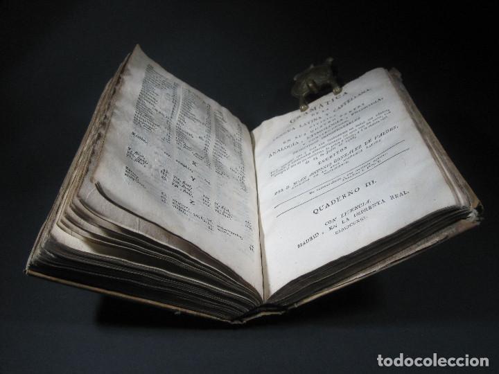 Libros antiguos: Año 1791 Raro Método completo para aprender latín 3 libros en 1 volúmen Castellano Pergamino - Foto 13 - 106908759