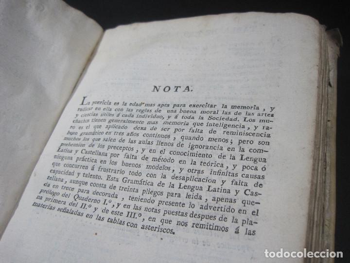 Libros antiguos: Año 1791 Raro Método completo para aprender latín 3 libros en 1 volúmen Castellano Pergamino - Foto 16 - 106908759
