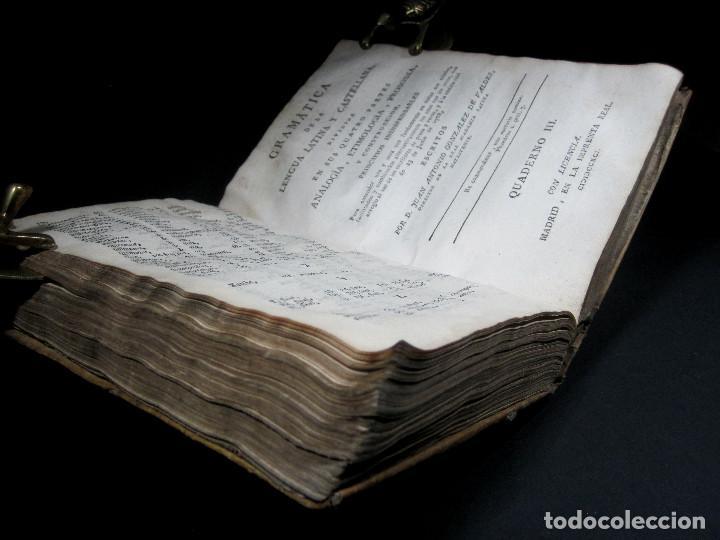 Libros antiguos: Año 1791 Raro Método completo para aprender latín 3 libros en 1 volúmen Castellano Pergamino - Foto 9 - 106908759