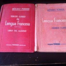 Libros antiguos: 2 LIBROS PARA APRENDER FRANCES METODO PERRIER LENGUA FRANCESA PRIMER Y TERCER CURSO AÑOS 50 . Lote 113070727