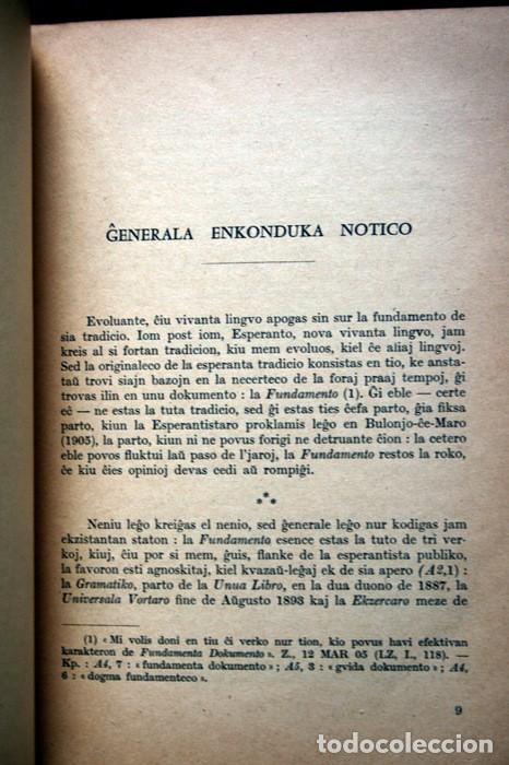 Libros antiguos: FUNDAMENTO DE ESPERANTO - ZAMENHOF - 1963 - 355 páginas - Foto 5 - 115173779