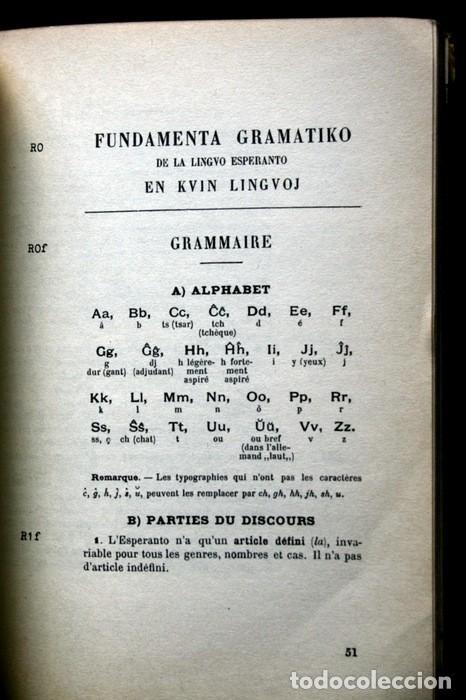 Libros antiguos: FUNDAMENTO DE ESPERANTO - ZAMENHOF - 1963 - 355 páginas - Foto 7 - 115173779