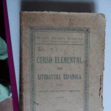 Libros antiguos: CURSO ELEMENTAL DE LITERATURA ESPAÑOLA - 1932-1933 MIGUEL SANCHO BARBEDA . Lote 117903211