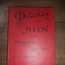 Libros antiguos: PRIMER CURSO DE ITALIANO. METODO DE AHN. D. FRANCISCO MARIA RIVERO. REVISADO POR D. JUAN TOUSCOZ. . Lote 118333451
