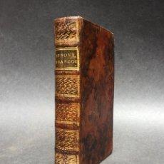 Libros antiguos: 1752 - SYNONYMES FRANCOIS - LIBRO DE GRAMATICA FRANCESA - PRECIOSA ENCUADERNACIÓN. Lote 118801039