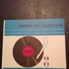 Libros antiguos: METODO DE IDIOMAS UNIVERSAL CAMPO COURS DE FRANCAIS 1965. Lote 120771867