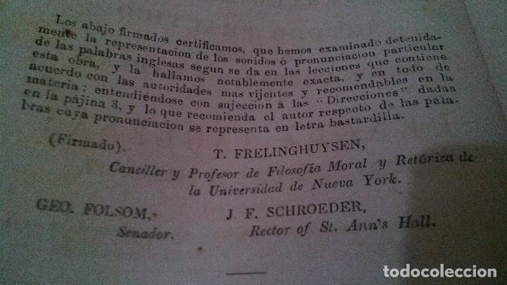 Libros antiguos: EL MAESTRO DE INGLES-FRANCISCO JAVIER VINGUT¿ 1861 ?-SELLO LIBRERIA LA PLUMA DE ORO-SANTIAGO DE CUBA - Foto 7 - 120986931
