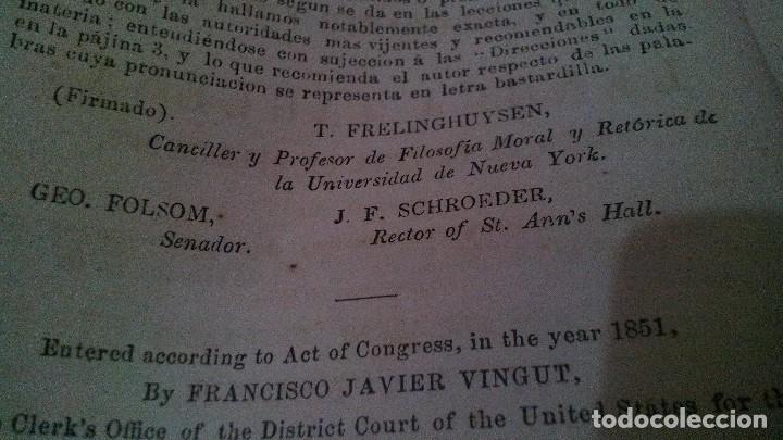 Libros antiguos: EL MAESTRO DE INGLES-FRANCISCO JAVIER VINGUT¿ 1861 ?-SELLO LIBRERIA LA PLUMA DE ORO-SANTIAGO DE CUBA - Foto 8 - 120986931
