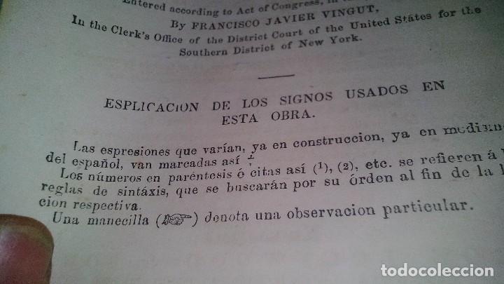 Libros antiguos: EL MAESTRO DE INGLES-FRANCISCO JAVIER VINGUT¿ 1861 ?-SELLO LIBRERIA LA PLUMA DE ORO-SANTIAGO DE CUBA - Foto 9 - 120986931
