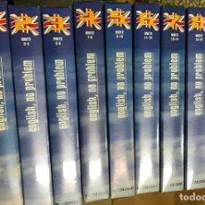 Libros antiguos: ENGLISH NO PROBLEM - CURSO DE INGLÉS EN VHS 10 CINTAS VHS EL MUNDO . Lote 121917799