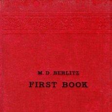 Libros antiguos: METHOD FOR EACHING MODERN LANGUAGES. M. D. BERLITZ. 1921.. Lote 123413507