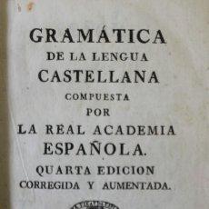 Libros antiguos: GRAMÁTICA DE LA LENGUA CASTELLANA COMPUESTA POR LA REAL ACADEMIA ESPAÑOLA.. Lote 123269046