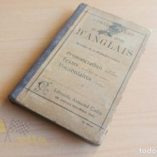 Libros antiguos: LA DEUXIÈME ANNÉ D'ANGLAIS - ADRIEN BARET - LIBRAIRIE ARMAND COLIN - 1912. Lote 136548606