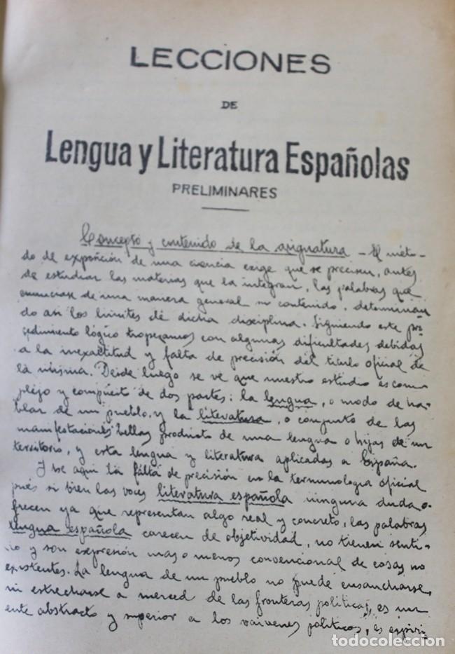 Libros antiguos: LECCIONES DE LENGUA Y LITERATURA ESPAÑOLAS. - RUBIÓ Y LLUCH, Dr. D. A., y PARPAL Y MARQUÉS, Dr. D. C - Foto 2 - 123241299