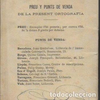 Libros antiguos: Lectura y ortografía de la llengua catalana seguida dun compendi d ortografía castellana / Marián - Foto 4 - 139869142