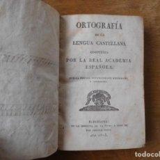 Libros antiguos: LIBRO ORTOGRAFÍA DE LA LENGUA CASTELLANA BARCELONA AÑO 1823. Lote 140284546