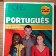 Libros antiguos: CURSO DE PORTUGUÉS COMPLETO Y A ESTRENAR DE EDITORIAL PONS . Lote 141581038