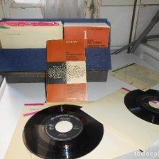 Libros antiguos: EL INGLES DE HOY. 5 LIBROS Y 24 DISCOS DE VINILO DE 33 RPM. AÑO 1966. Lote 142675698