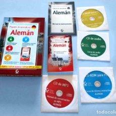 Libros antiguos: PAQUETE EN CAJA CURSO ALEMAN. CON CD-ROM, MANUAL DE CONVERSACIÓN. CD-ROM INTERACTIVO. Lote 142738122