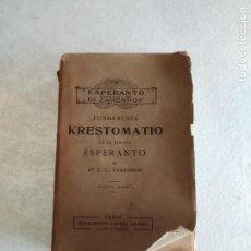 Libros antiguos: KRESTOMATIO DE LA LINGUO ESPERANTO. L. L. ZAMENHOF. Lote 142950806