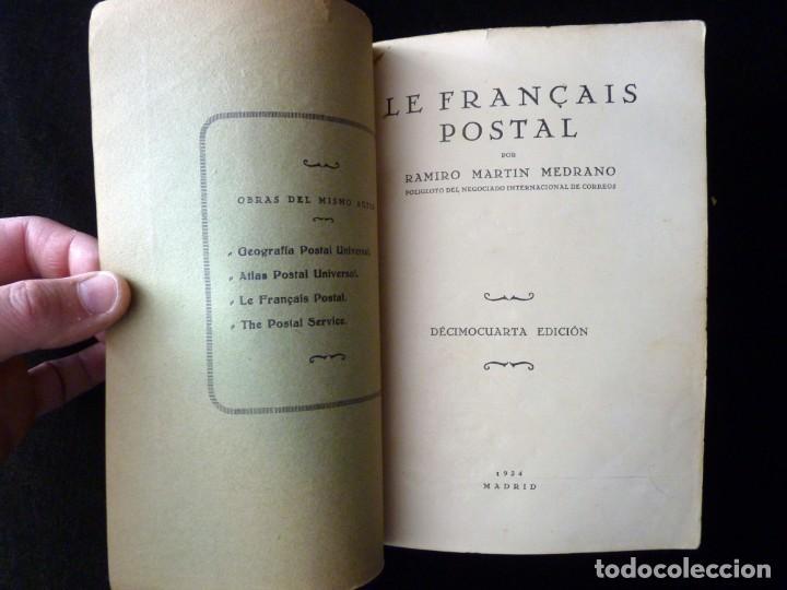 Libros antiguos: LE FRANÇAIS POSTAL, RAMIRO MARTÍN MEDRANO. 14 ED. MADRID 1934 - Foto 2 - 144157998