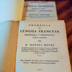 Libros antiguos: GRAMÁTICA DE LENGUA FRANCESA. 2 CURSOS. RAFAEL REYES. 1.936. BILINGÜE FRANCÉS-CASTELLANO. Lote 147144758