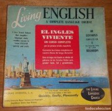 Libros antiguos: CURSO DE INGLÉS. LIVING ENGLISH. EL INGLÉS VIVIENTE. AÑOS 60. Lote 151474314