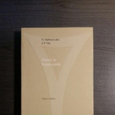 Libros antiguos: MANUAL DE LENGUA ACADIA. Lote 151885266