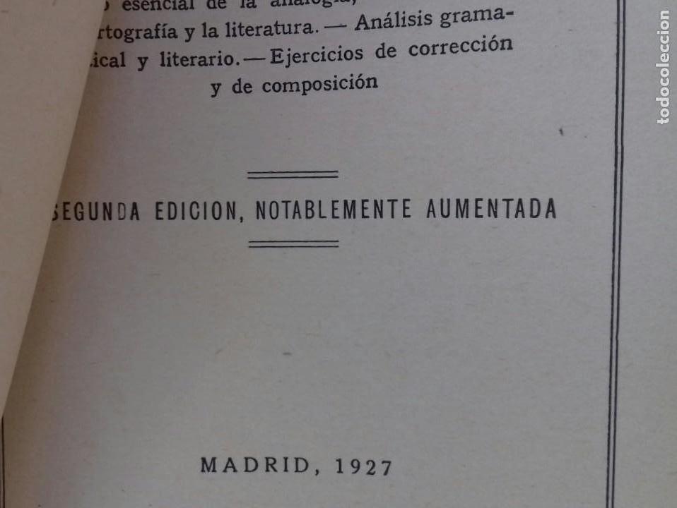 Libros antiguos: TESORO DEL IDIOMA CASTELLANO. BENITO FENTANES. MADRID 1927. - Foto 3 - 156005158