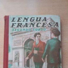 Libros antiguos: LENGUA FRANCESA SEGUNDO CURSO POR EDELVIVES. Lote 158241422