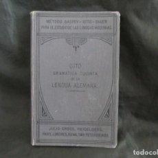 Libros antiguos: GRAMÁTICA SUCINTA LENGUA ALEMANA 1904 MÉTODO GASPEY OTTO SAUER 6ª EDICIÓN LIBRERÍA SANTIAGO COMPOST. Lote 158298878
