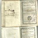 Libros antiguos: 3811.- PRIMERA Y SEGUNDA PARTE DE LA GRAMATICA LATINA - NOTAS DE AGUSTIN DE SAN JUAN. Lote 160090982