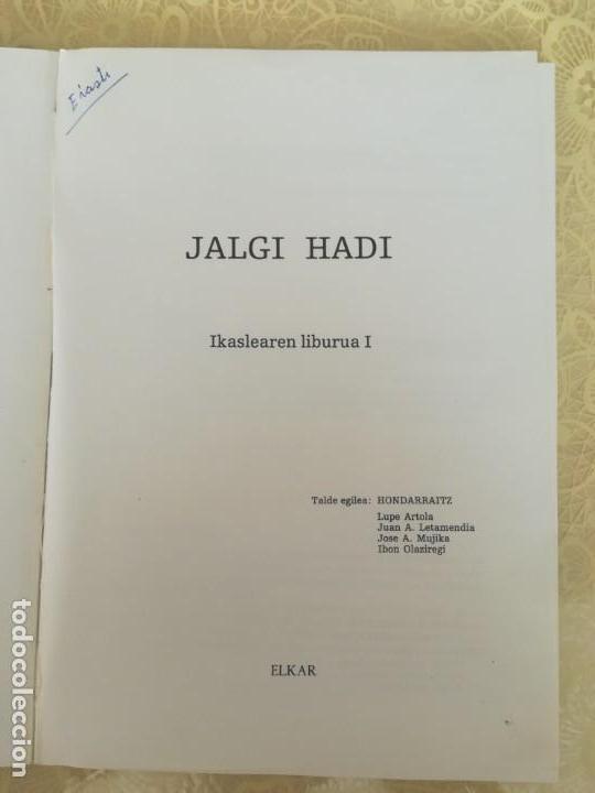 Libros antiguos: APRENDER VASCO - JALGI HADI - IKASLEAREN LIBURUA I - HONDARRAITZ - Foto 3 - 163424982