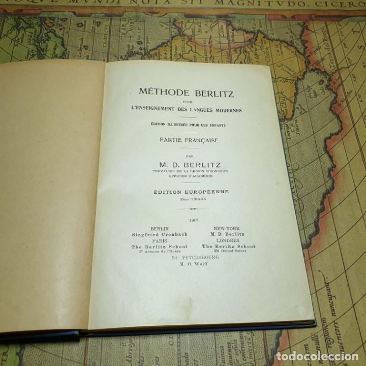 Libros antiguos: ILLUSTRÉE POUR LES ENFANTS. MÉTHODE BERLITZ. M.D. BERLITZ. ÉDITION EUROPÉENNE. 1909. - Foto 3 - 165676218