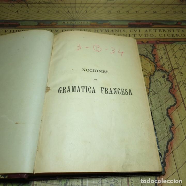 Libros antiguos: NOCIONES DE GRAMÁTICA FRANCESA. F.F.G. NO CONSTA AÑO. - Foto 3 - 165677266