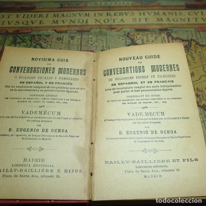 Libros antiguos: NOVÍSIMA GUÍA DE CONVERSACIONES. BAILLY-BALLIERE É HIJOS. - Foto 2 - 166443290