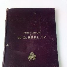 Libros antiguos: FIRST BOOK BY H.O BERLITZ. Lote 167857468