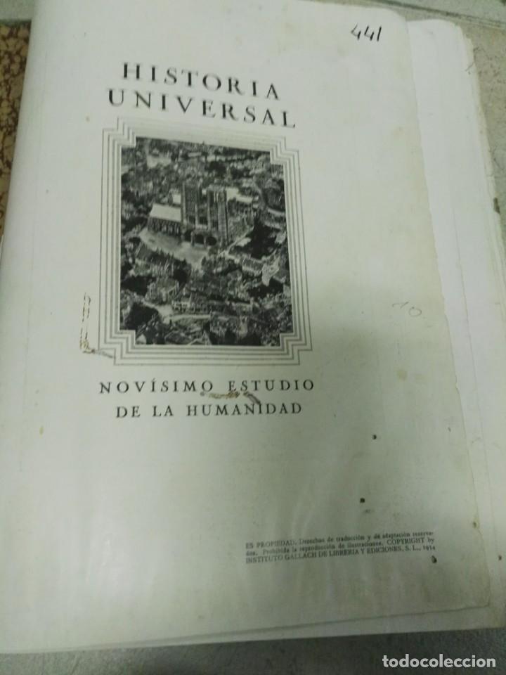 Libros antiguos: Historia universal.Novìsimo estudio de la humanidad.Tomo 5:Edad Moderna - Foto 2 - 26848018