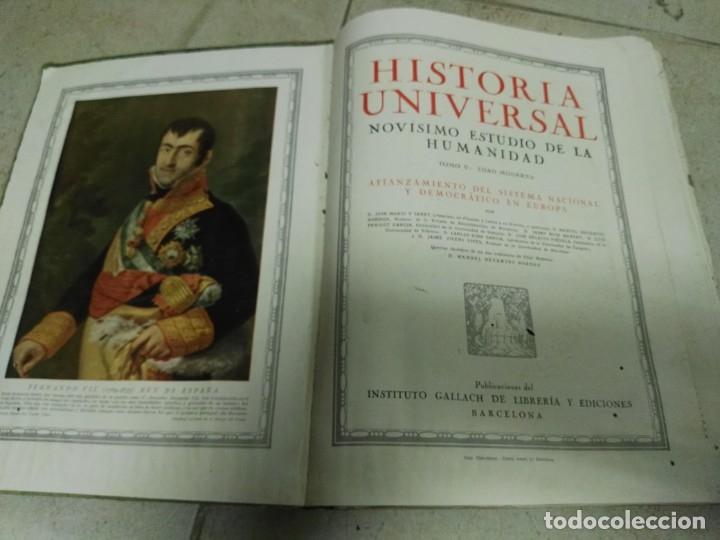 Libros antiguos: Historia universal.Novìsimo estudio de la humanidad.Tomo 5:Edad Moderna - Foto 3 - 26848018