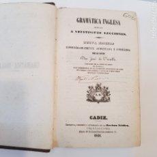 Libros antiguos: GRAMATICA INGLESA 1948 CADIZ ESCUDO MILITAR MARINA EN LA ENCUADERNACION. Lote 172158435