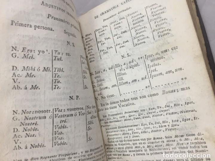 Libros antiguos: Nuevo epítome de gramática latina o método seguro enseñar latin principiante 1817 plena piel Madrid - Foto 4 - 173181703