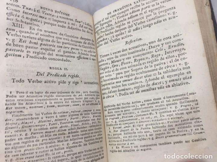 Libros antiguos: Nuevo epítome de gramática latina o método seguro enseñar latin principiante 1817 plena piel Madrid - Foto 6 - 173181703