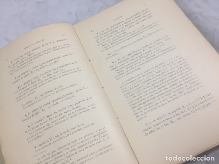 Libros antiguos: Gramatica de la Lengua Catalana. Pompeyo Pompeu Fabra.Tipografía lAvenç, 1912 - Foto 5 - 175475264