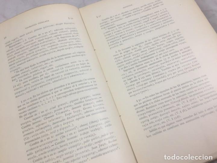 Libros antiguos: Gramatica de la Lengua Catalana. Pompeyo Pompeu Fabra.Tipografía lAvenç, 1912 - Foto 6 - 175475264