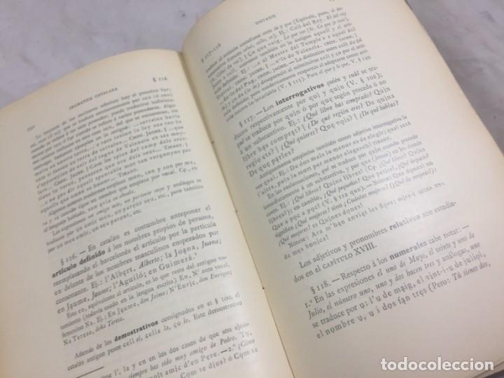 Libros antiguos: Gramatica de la Lengua Catalana. Pompeyo Pompeu Fabra.Tipografía lAvenç, 1912 - Foto 9 - 175475264