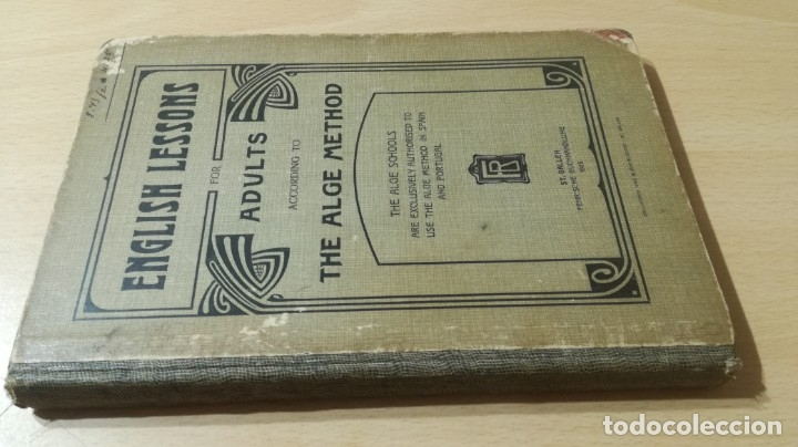 Libros antiguos: ENGLISH LESSONS ADULTS THE ALGE METHOD - ST GALLE 1905 - Foto 1 - 177845315